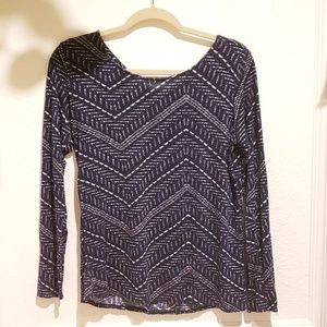 Lucky brand denim long sleeve top